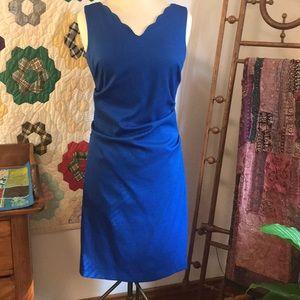 Sara Campbell Pique Scallop Neck Dress